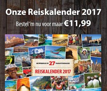De Wereld in 27 Vakantiedagen Reiskalender 2016