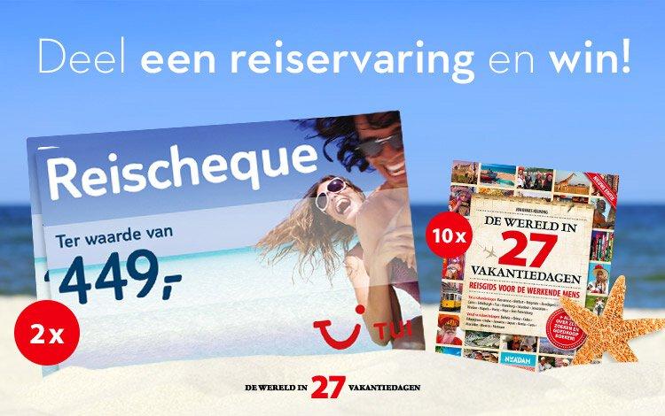 Win een reischeque t.w.v. €449!