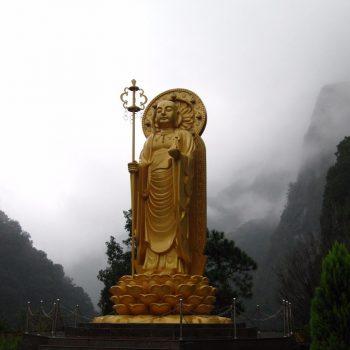 Gouden Buddha bij Hsiang-Te Temple