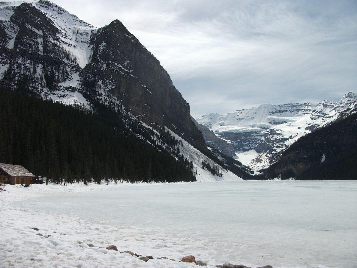 Lake Louise in mei