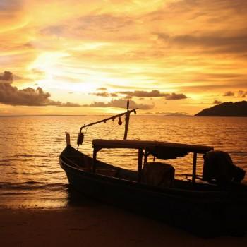 Indrukwekkende zonsondergang Langkawi