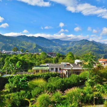 Uitzicht vanaf hostel Luciérnaga