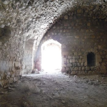 binnenin het kasteel