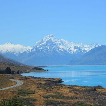 De weg naar Mount Cook