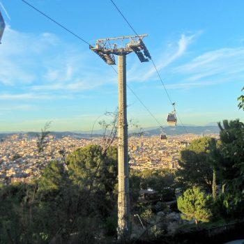Mont Juïc, uitzicht over Barcelona