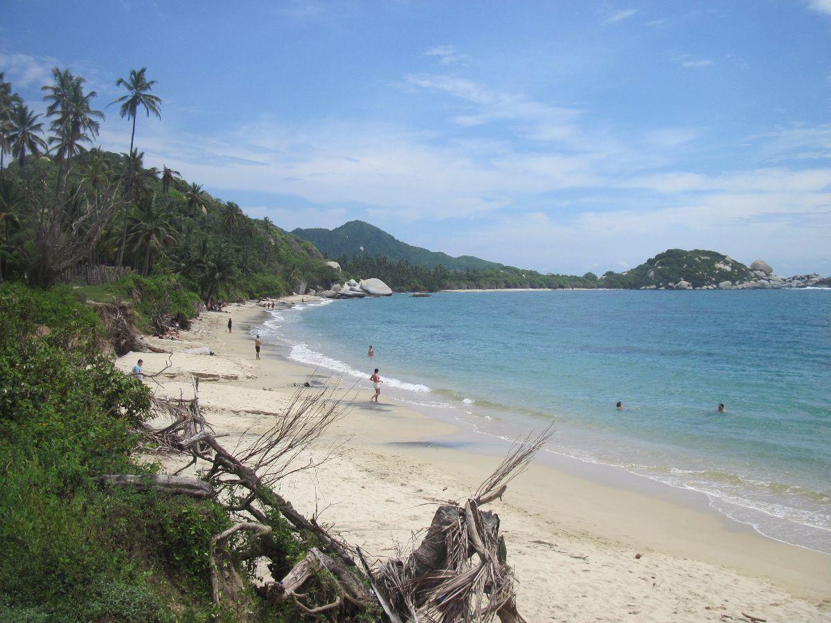 Strand op de route