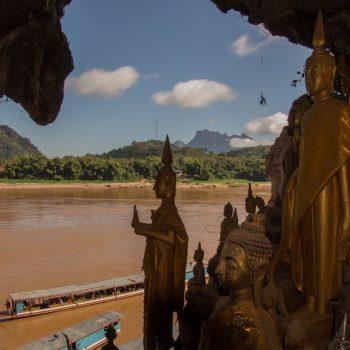 Pak Ou met uitzicht op de Mekong