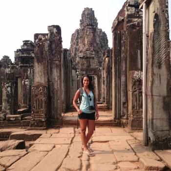 Ik in de Bayon tempel
