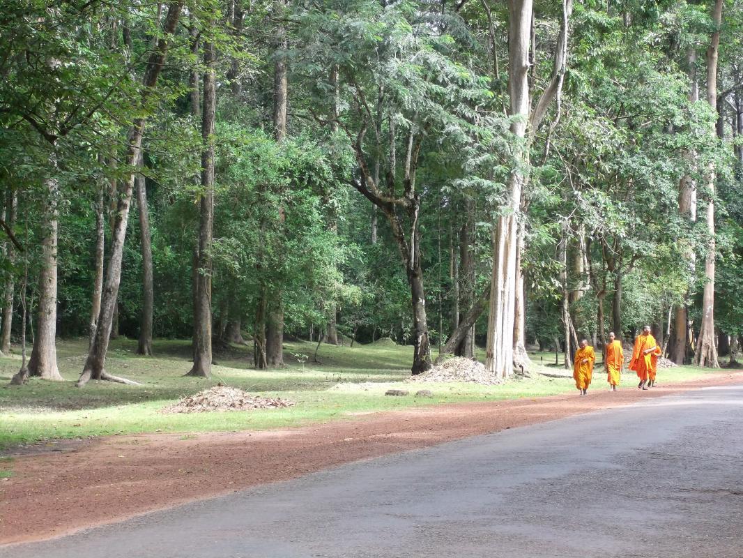 Monniken bij Angkor