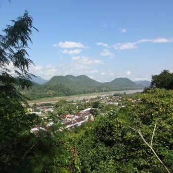 Uitzicht over Luang Prabang