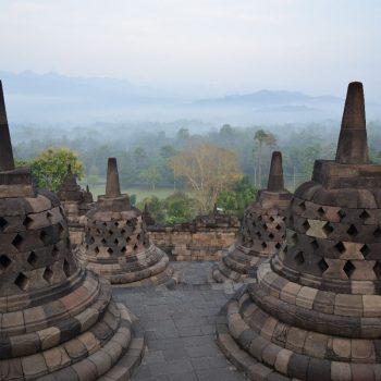 Borobudur bij zonsopgang