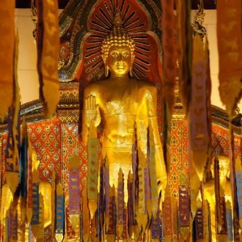 Eén van de prachtige tempels in Chiang Mai