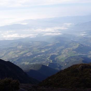 Uitzicht vanaf Mount Kinabalu