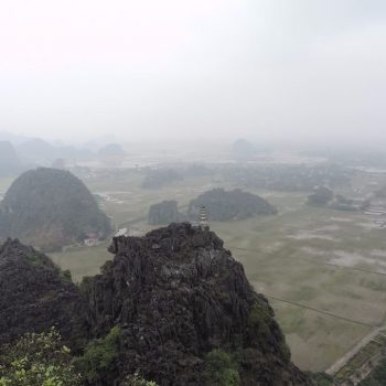 Uitzicht vanaf Mua Cave
