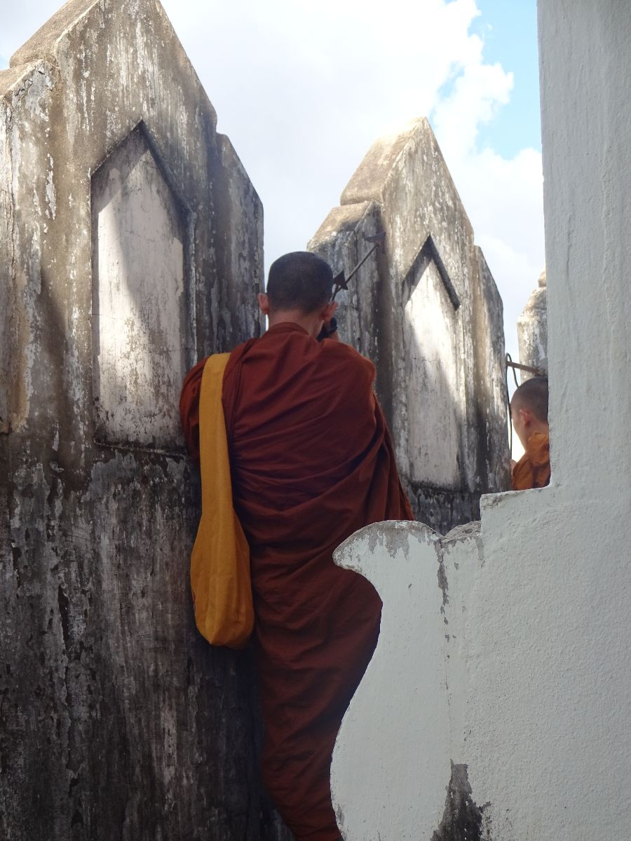 Monnik op Patuxai