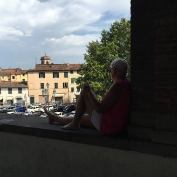 Uitzicht vanaf de muur op het oude gedeelte
