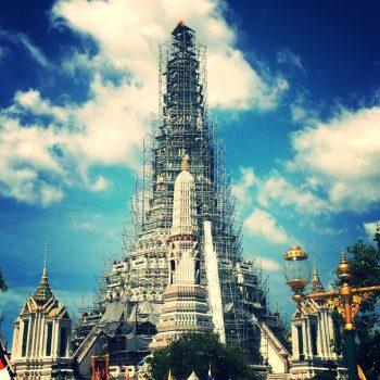 Wat Arun, helaas in de steigers.