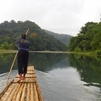 Bamboo raften op de Rio Grande