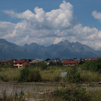 Tatra gebergte vanuit Poprad