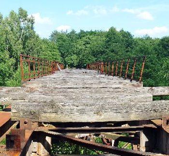 Oude spoorrails - Czerwony Most (nabij Polanow)