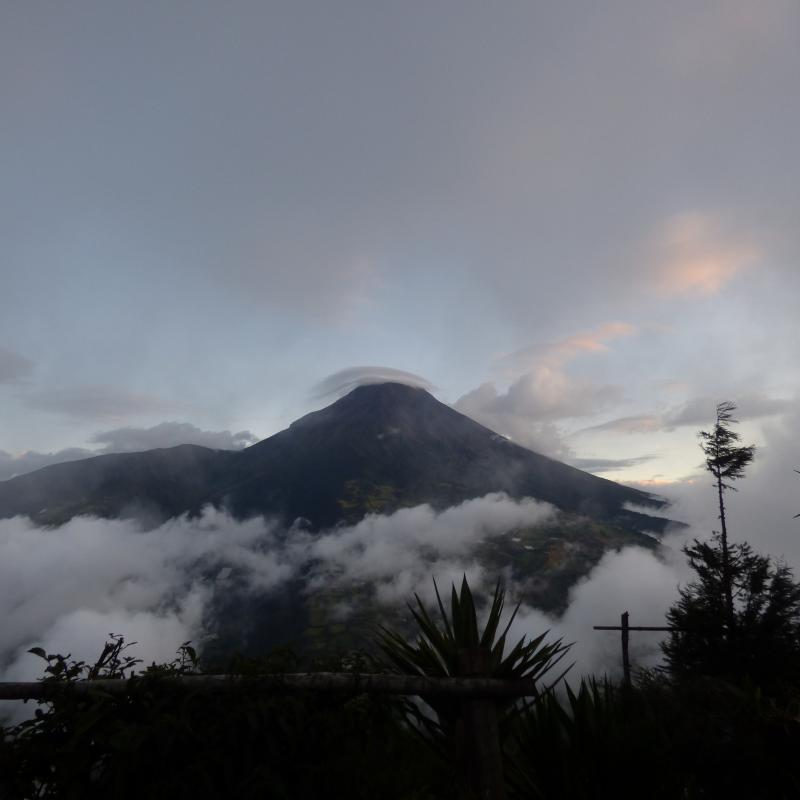 vulkaan bij Banos