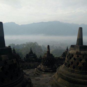 Tempelcomplex Borobudur bij Jogjakarta