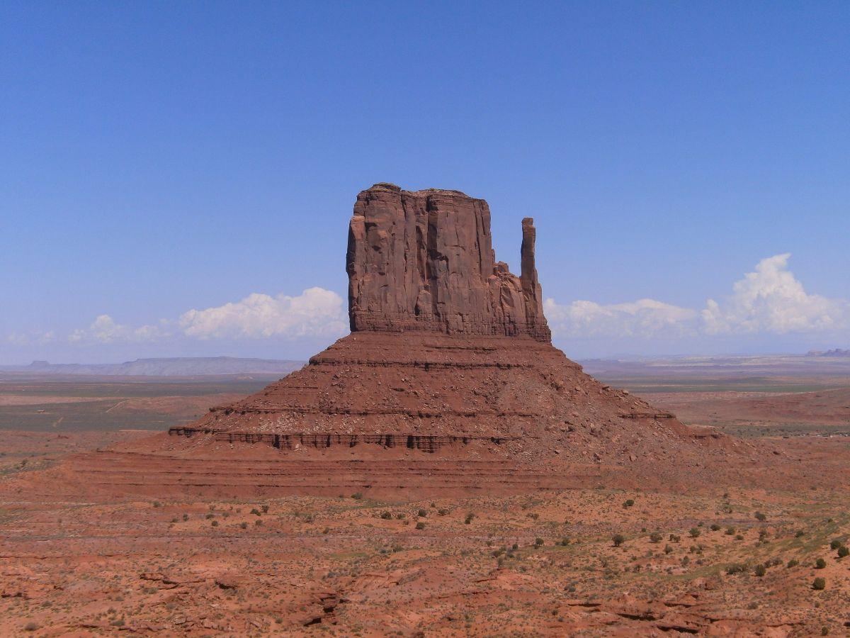 Monument Valley view vanaf het bezoekerscentrum