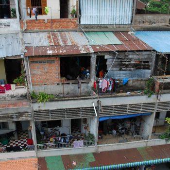 huizen van de mensen in de hoofdstad