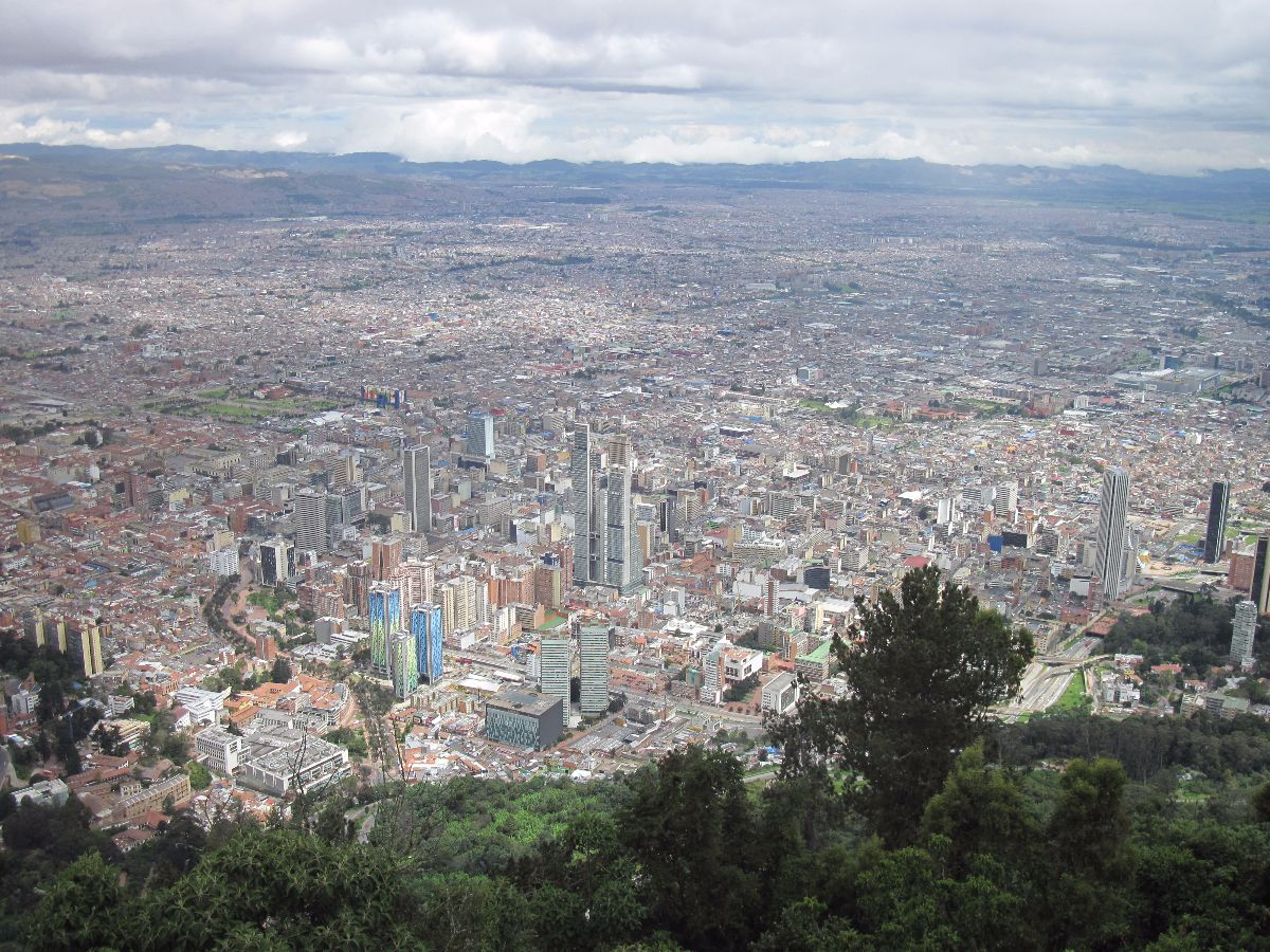 Uitzicht over Bogotá vanaf Monserrate