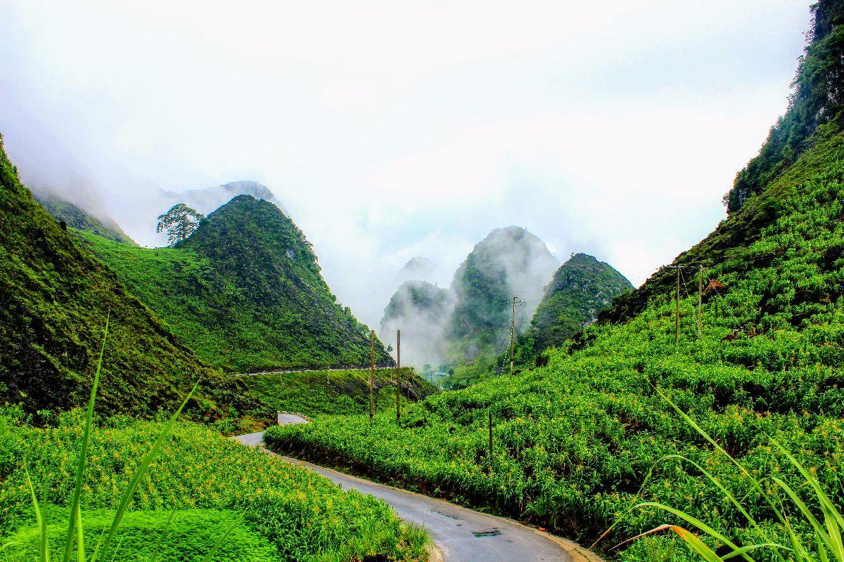 De prachtige karstgebergtes in de Ha Giang Provincie