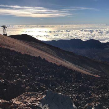 Vanaf vulkaan El Teide
