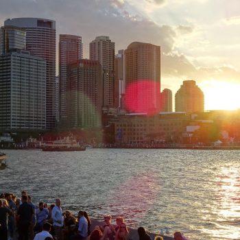 Skyline Sydney vanaf Circular Quay