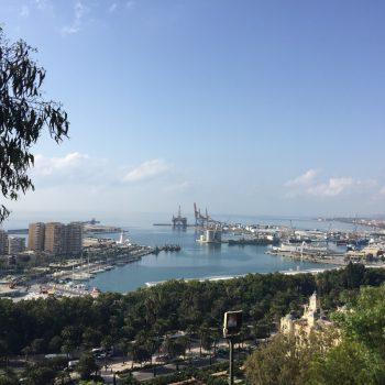 Overzicht haven van Malaga