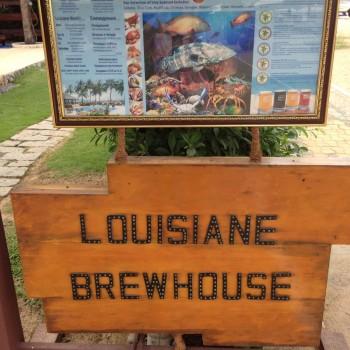 Louisiane brewhouse hier kan je verschillende soorten bier proeven