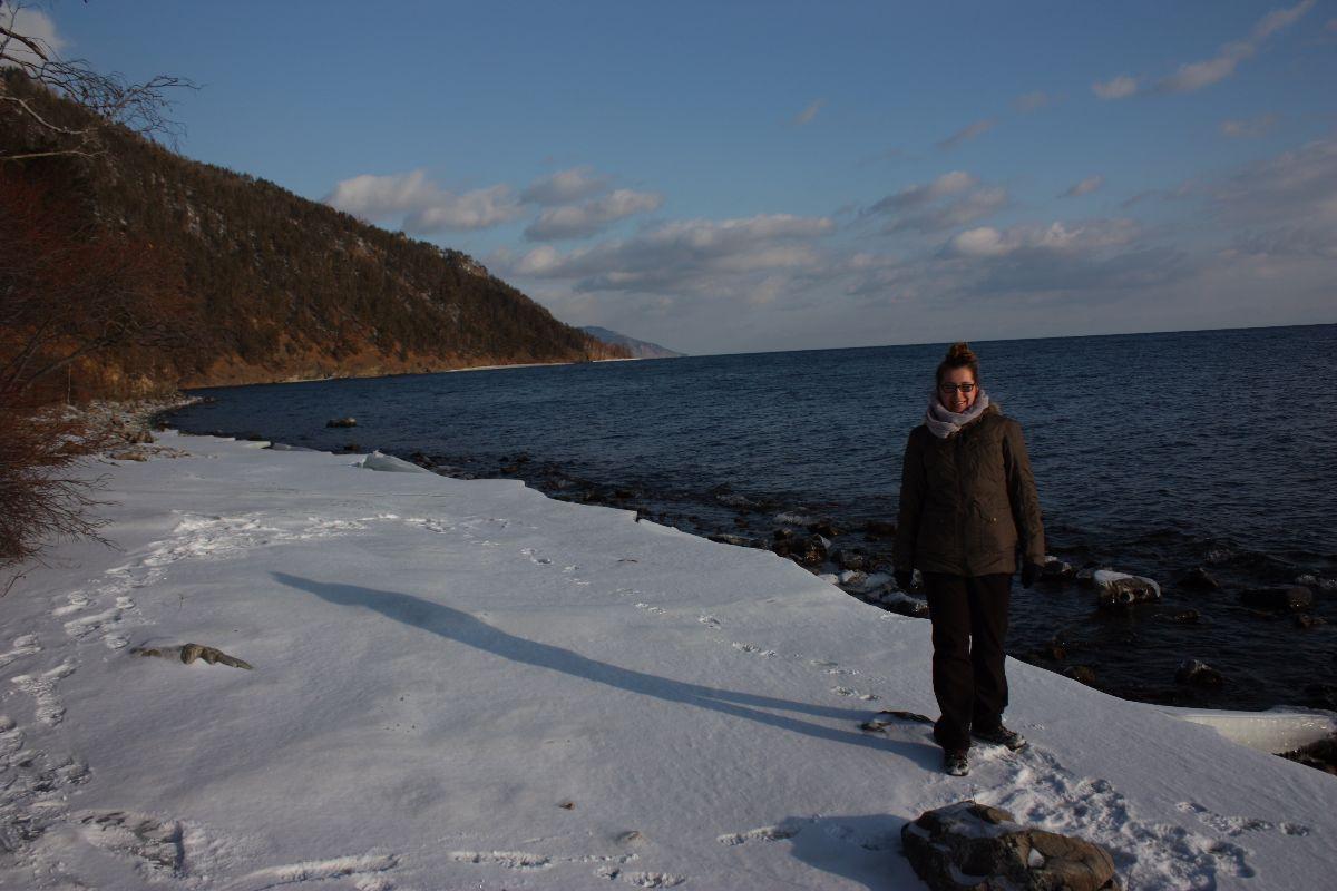 Tijdens de hike vanuit Lystvianka