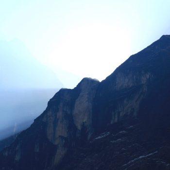 Eerste zonnestralen Annapurna Base Camp