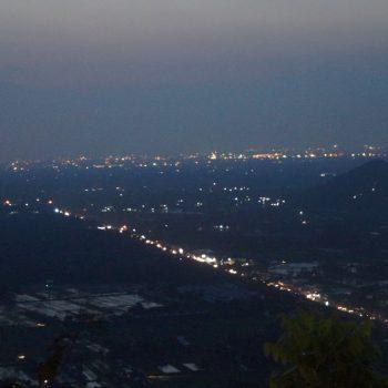 Uitzicht vanaf het bergrestaurant Bukit Bintang