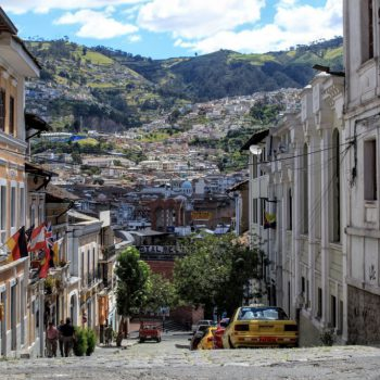 Straatjes in Quito