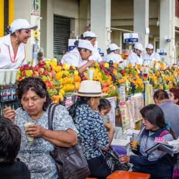 De lokale markt in Arequipa