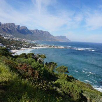 Kustlijn net buiten Kaapstad