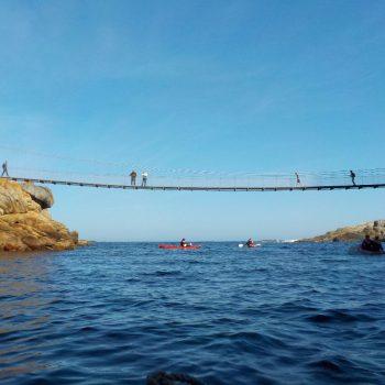 Een van de bruggen, vanaf de kano