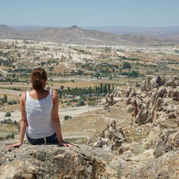 Genieten van het uitzicht in Cappadocië