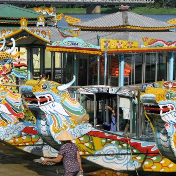 Dragon boat in Hue