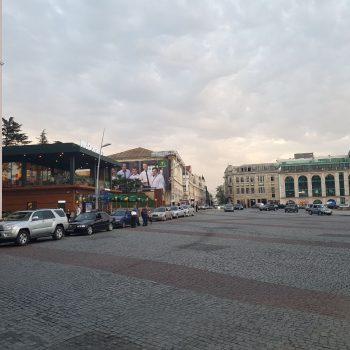 Het centrale plein van Kutaisi