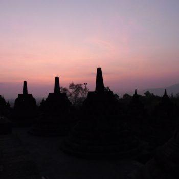 Boropudur bij zonsopgang