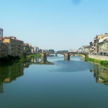 Wandeling langs het water in Florence