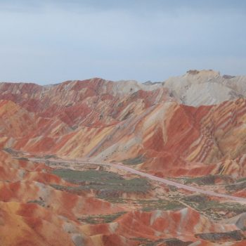 Rainbow Mountains nabij Jiayuguan Fort