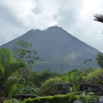 Uitzicht vanuit La Fortuna, de vulkaan Arenal