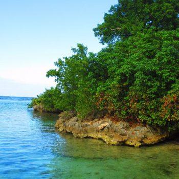 Ocho Rios klein strandje