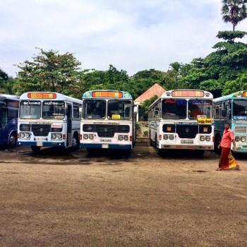 Bussen in Galle